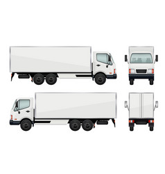 realistic truck vector image