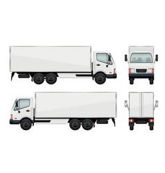 Realistic truck vector