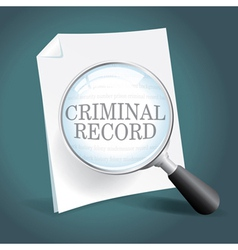 Reviewing a Criminal Record vector