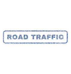 road traffic textile stamp vector image