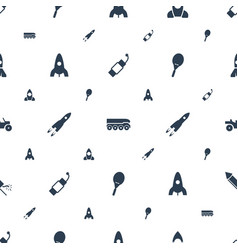rocket icons pattern seamless white background vector image