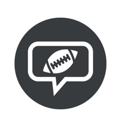 Round rugby dialog icon vector