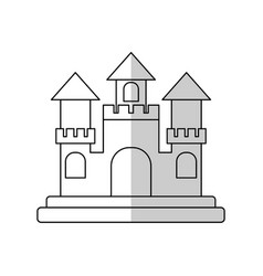 Sandcastle icon image vector
