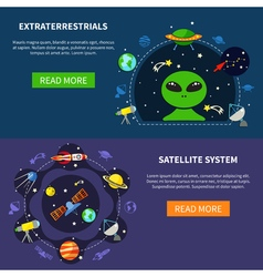 Satellite System Banners Set vector image