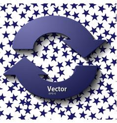 Set arrow stickers vector