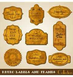 Set of grunge retro Labels and Frames vector