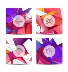 Set of hipster Labels Logo Frames Modern vector