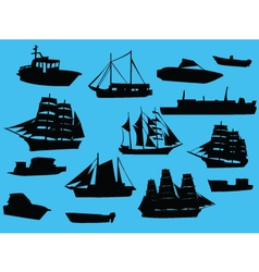 ships collection vector image