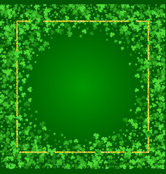 square saint patricks day background with clover vector image