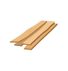 stack of wooden planks boards wood things vector image