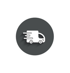truck delivery simple icon express service sign vector image