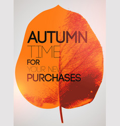 Typographical poster for autumn sales vector