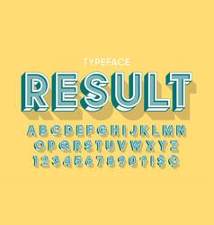 Vitage 3d display font design alphabet letters vector