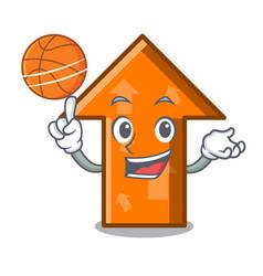 with basketball arrow character cartoon style vector image