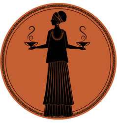 Zodiac in the style of ancient greece libra woman vector
