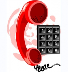phone receiver and number vector image vector image