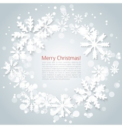 Snoflakes background vector image