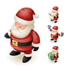 3d santa claus grandfather frost hold gift box vector image vector image