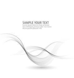 Abstract background Gray smoke wave Gray vector image