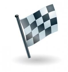 checked checkered flag vector image vector image