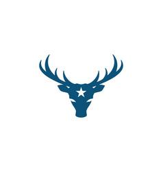 deer logo template icon vector image