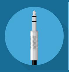 flat design audio connector vector image vector image