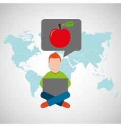 online training education-student apple vector image