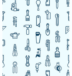 seamless tool icon background vector image vector image