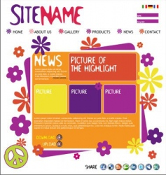 abstract website template vector image