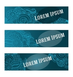 Cartoon hand-drawn Doodle banners Vertical vector image