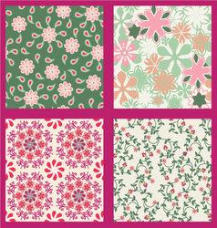floral set pattern summer vector image vector image