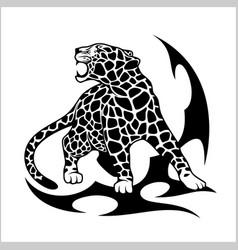 jaguar flame tattoo vector image