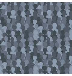 Many dark silhouettes crowd of people seamless vector image vector image