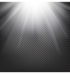 Shiny sunburst background vector image