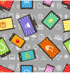 Abstract style modern gadgets seamless pattern vector image vector image