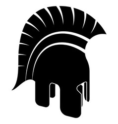 Ancient Helmet Black White vector image vector image