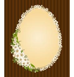 Easter border frame vector image vector image