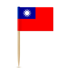 republic of china flag toothpick vector image vector image