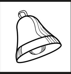 Sketch bell isolated on white vector