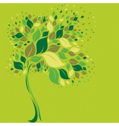 tree symbol from colorful leafs vector image vector image