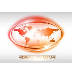 world abstract circle on white red vector image vector image