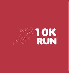 10k run template design vector