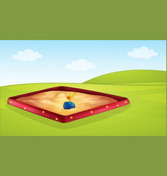 a sandpit in playground vector image