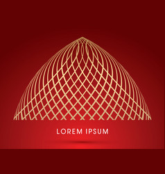 Abstract dome vector