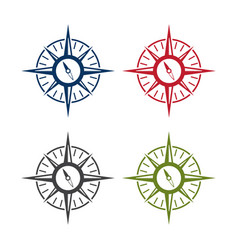 abstract icon design template compass set vector image
