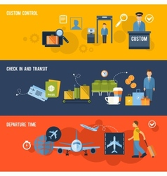 Airport Banner Set vector image