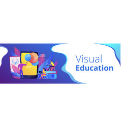 augmented reality in education header banner vector image