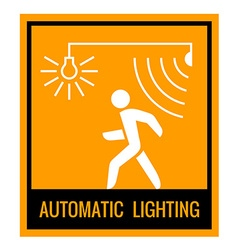 Automatic lighting concept attention sign table vector