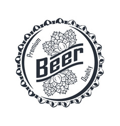 beer badge monochrome vector image
