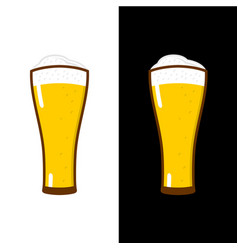 beer glass with foam vector image